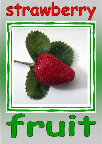 Fruit and Vegetable cards(part 8)