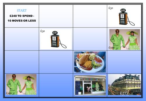 Planning ahead worksheet activity