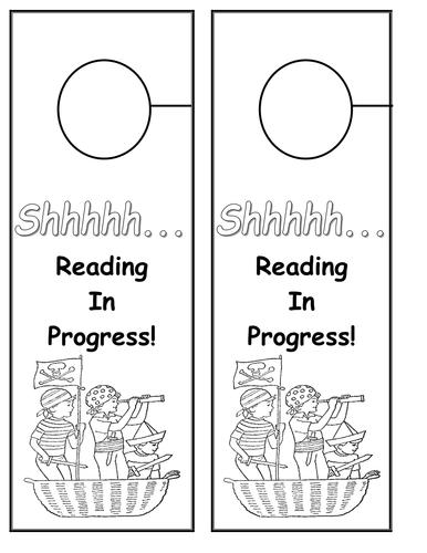 Pirate Theme Reading Doorhangers KS1 KS2