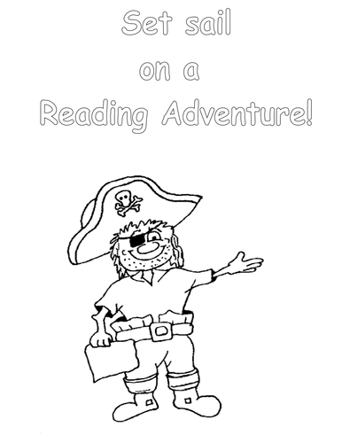 Reading Posters Pirate Themed Colouring Sheets