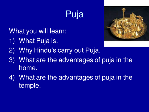 puja powerpoint for Standard Grade