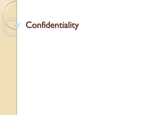 Confidentiality Questions