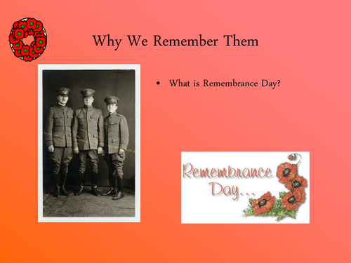 Power Point Presentation - Remembrance Day