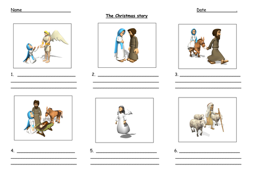 the christmas story worksheet by nettle83 teaching resources tes. Black Bedroom Furniture Sets. Home Design Ideas