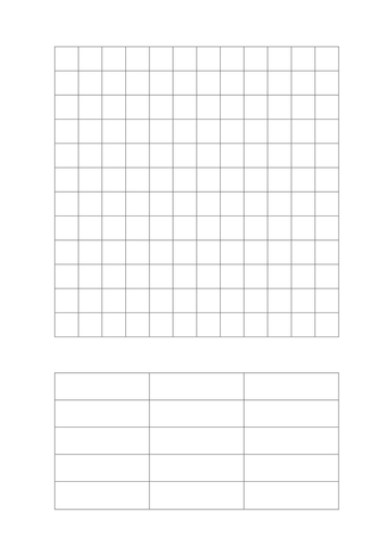 Blank Wordsearch Grid By Ballder Teaching Resources Tes