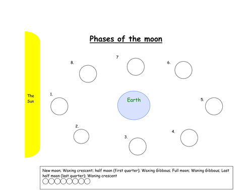 Worksheet Phases Of The Moon Worksheet phases of the moon by ktwoody teaching resources tes