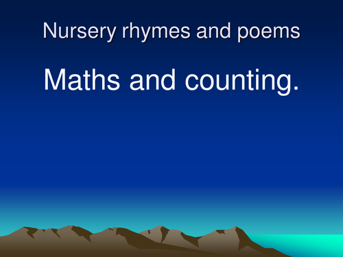 Nursery rhymes slideshow