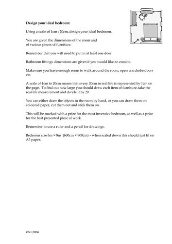 KS3 worksheet - Ratio and Measurements