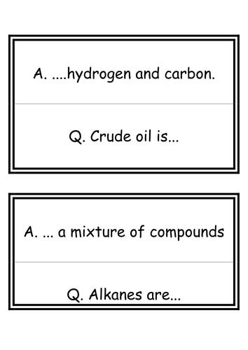 Energy: Fuels From Crude Oil Word Loop Game