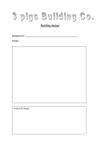 House design and evaluation sheets