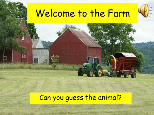 Guess the Farm Animal PowerPoint