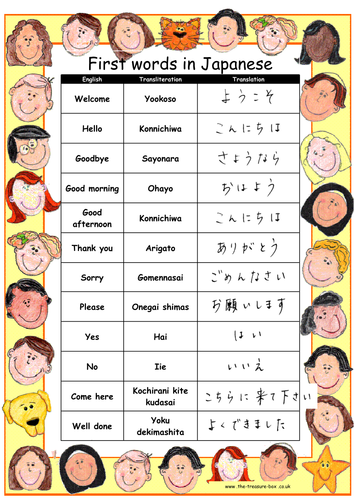 Useful words and phrases in Japanese ~ ideal for Japanese children or for projects on Japan