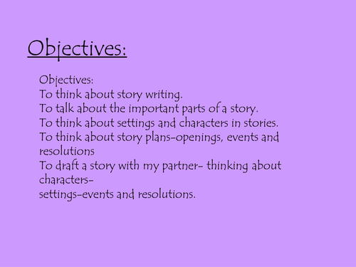 story writing powerpoint