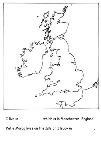 Katie Morag simple map of British Isles by lauralu18  Teaching