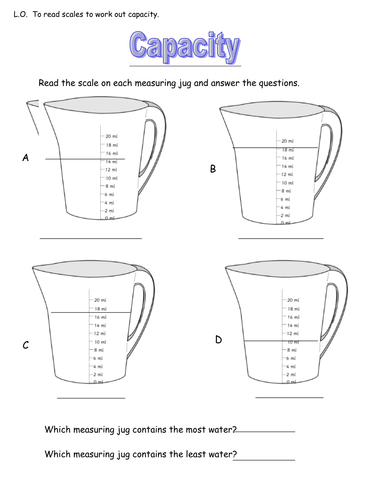Reading scales from measuring jugs by JGoodall - Teaching ...