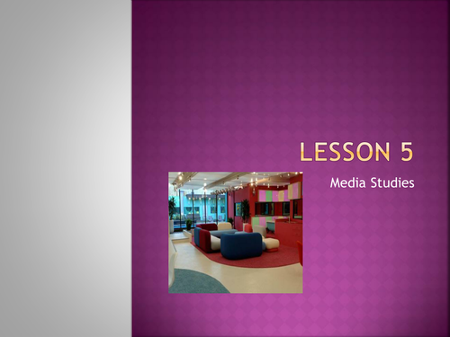 Designing your own reality TV show - lesson 5+6