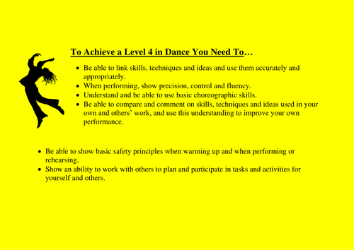 Dance Descriptors for Key Stage 3