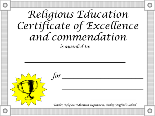 Certificate Template By Flora Hoori Teaching Resources Tes