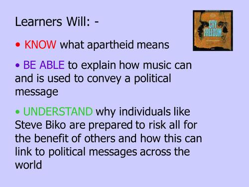 Steve Biko & Political songs