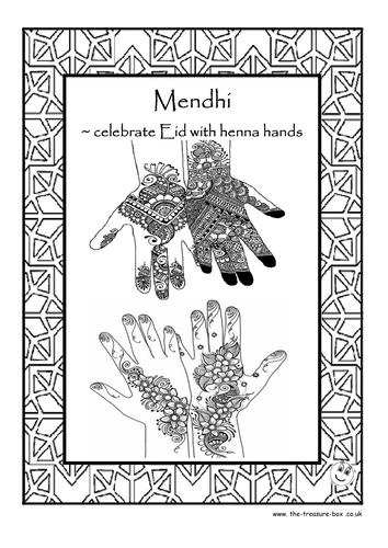 Mehndi Hands Powerpoint : Mehndi hands eid card by mychalkface teaching