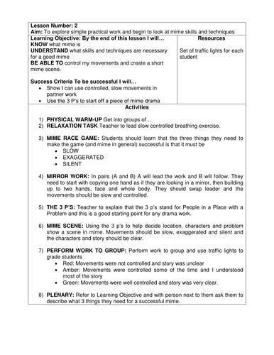 Scheme of Work for KS3 Drama