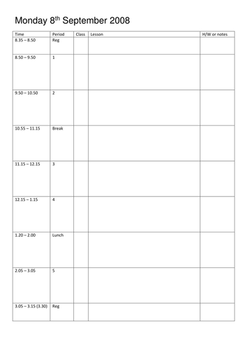 Weekly Planner Template By Londinium