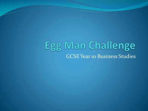 Egg Man Challenge Activity