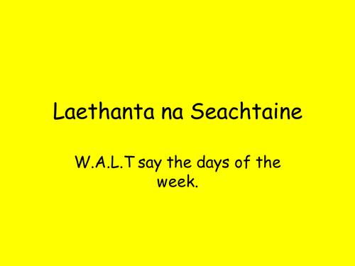 Bliain 8 Laethanta na Seachtaine L. Ni Neill