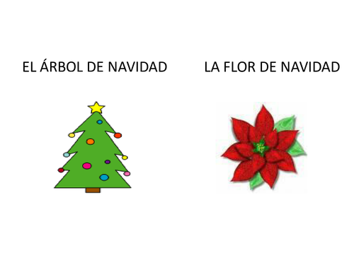 Christmas Spanish.Spanish Christmas Flashcards