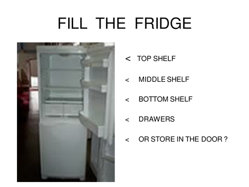 Fill the Fridge food Hygiene resource