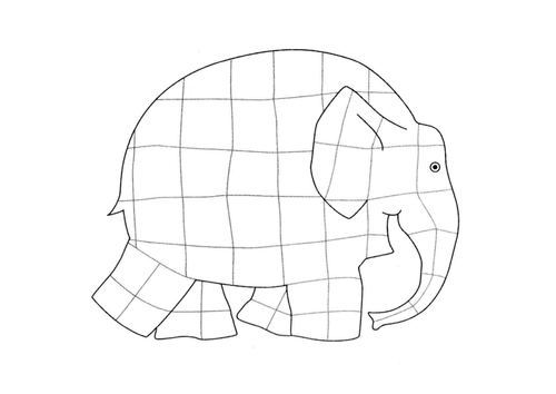 Elmer Colouring In Sheet By Happyjenny