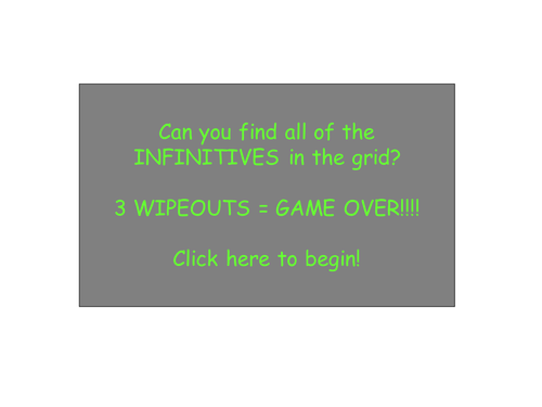 Wipeout style game - Infinitives