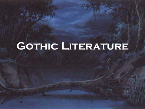 gothic literature short story examples