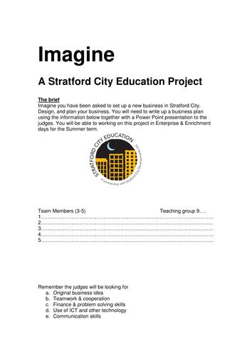 Imagine II Cross Curricular ICT / Maths / Enterprise Project