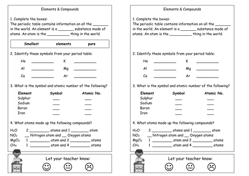 periodic table activity ks3 gallery periodic table and sample with periodic table ks3 worksheet image collections - Periodic Table Ks3 Worksheet