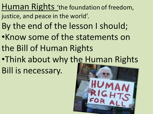 human rights powerpoint and worksheet