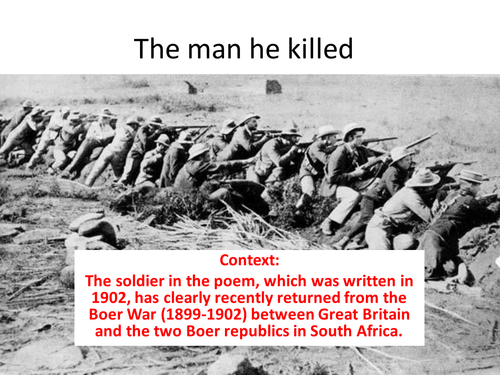the man he killed poem annotated