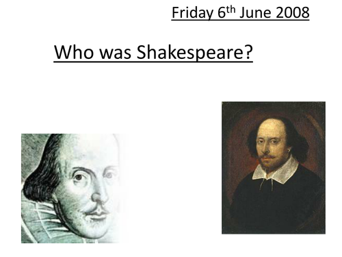 Using the internet to find out about Shakespeare.