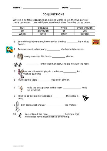 Conjunction sentences