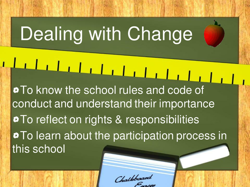 Dealing with change 2 school rules PSHE
