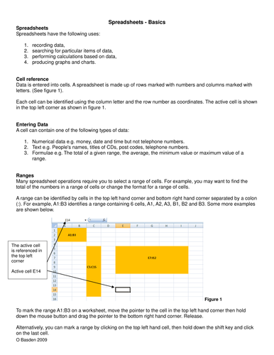 Spreadsheets basics