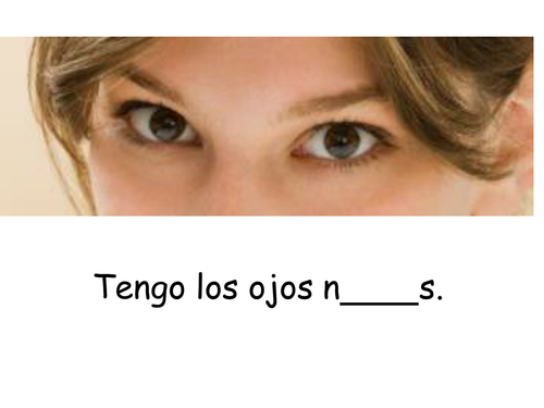 Spanish Eyes & Colours Activity - Los ojos