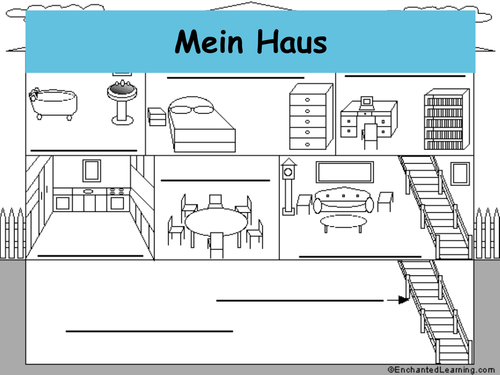 mein haus by eixxel teaching resources tes. Black Bedroom Furniture Sets. Home Design Ideas