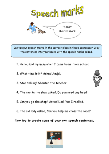 punctuation home work y4