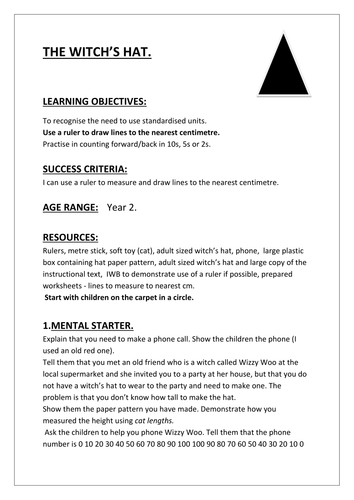 MATHS DRAMA LESSON - THE WITCH'S HAT