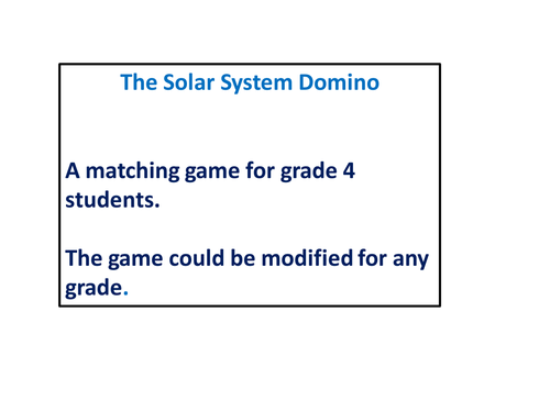 The Solar System Domino