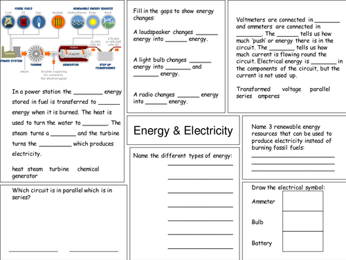 Year 9 energy and electricity revision