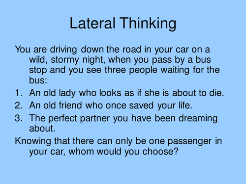 Lots of lateral thinking puzzles by mrs_a - Teaching Resources - Tes