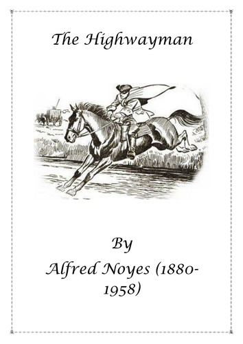 Poetry: The Highwayman by Alfred Noyes by wallipop
