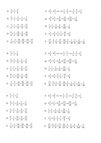 Common Fractions mistakes. KS3 KS4. Ages 11-16 by kaszal
